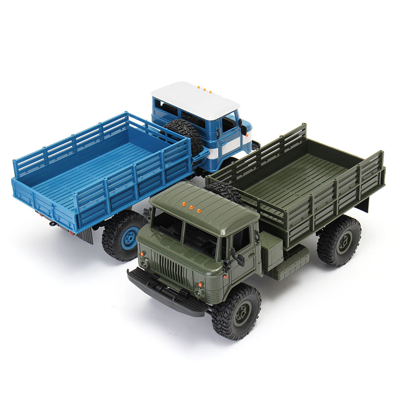 Brand New WPL WPLB-24 1/16 RTR 4 WD RC Military Truck 2.4GHZ VS WLtoys For Kids Gifts Birthday Present