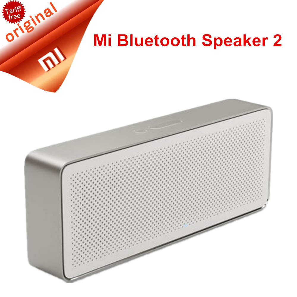 Original Xiaomi Speaker Pencil Box Xiaomi Bluetooth 4.2 Speaker 2 Square Stereo HD Sound Quality Portable Bluetooth Wireless tronsmart element t6 mini bluetooth speaker portable wireless speaker with 360 degree stereo sound for ios android xiaomi player