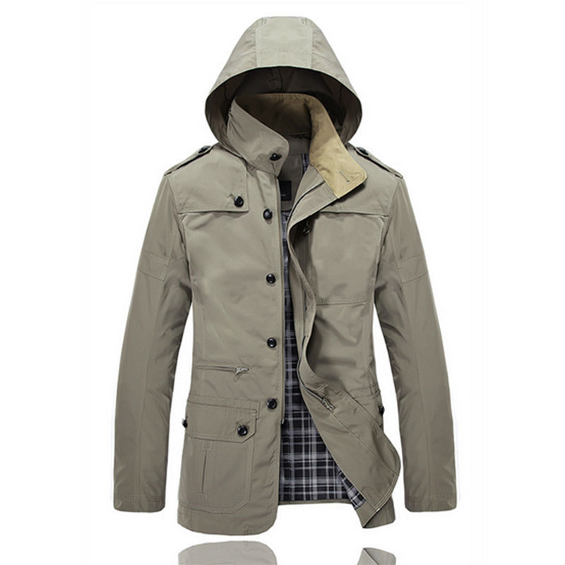 2015 New Winter Jacket Men Brand Business Casual Khaki Jackets For ...
