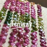 Naturalne Okrągłe Turmalin Koraliki Do Tworzenia Biżuterii waterdrop 15 cali 6*3mm DIY Biżuteria Darmowawysyłka Sprzedaż Hurtowa