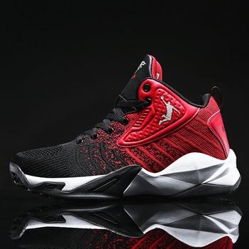 HUMTTO Männer Jordan Basketball Schuhe Air Kissen Basketball Turnschuhe Anti-skid High-top Paar Schuhe Atmungs Basketball Stiefel