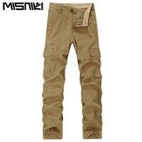 MISNIKI 2018 New Spring Solid Color Men Cargo Pants Cotton Pants Army Military Uniform Combat Tactical