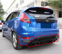 ABS Car Rear Bumper Spoiler Lip, Auto Car Rear Bumper Diffuser For Ford Fiesta Hatchback 2009 2010 2011 2012 2013 2014 2015 2016