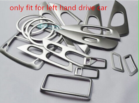 Left Hnad Drive Car-Styling Accessories  Interior Car Cover Trim Decoration 18pcs for  Nissan X-trail Rogue 2014 2015 2016 2017 car styling abs headlight switch button sequins dedicated interior chrome trim cover for subaru outback 2015 trim decoration