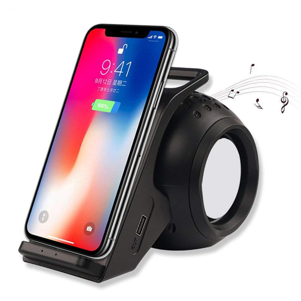 Bluetooth Speakers With Fast Wireless Charger Phone Stand