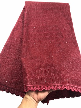 Nigerian Lace Fabrics For Wedding 2018 Swiss Voil Lace High Quality African Dry Cotton Lace Fabric For Nigerian Women CP03