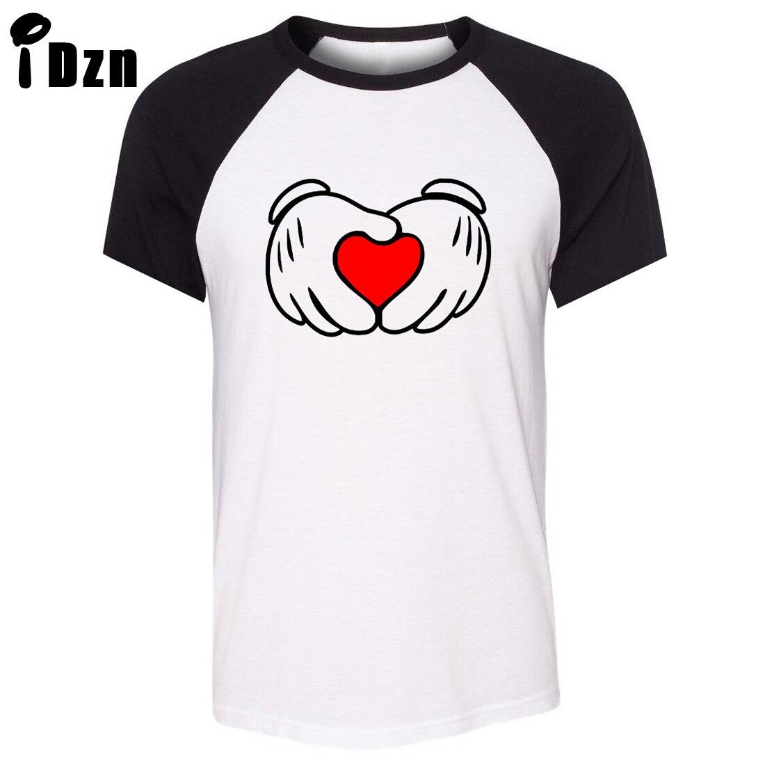 Heart design t shirt - Idzn Unisex Summer T Shirt Funny Red Love Heart Gesture Art Pattern Design Raglan Short
