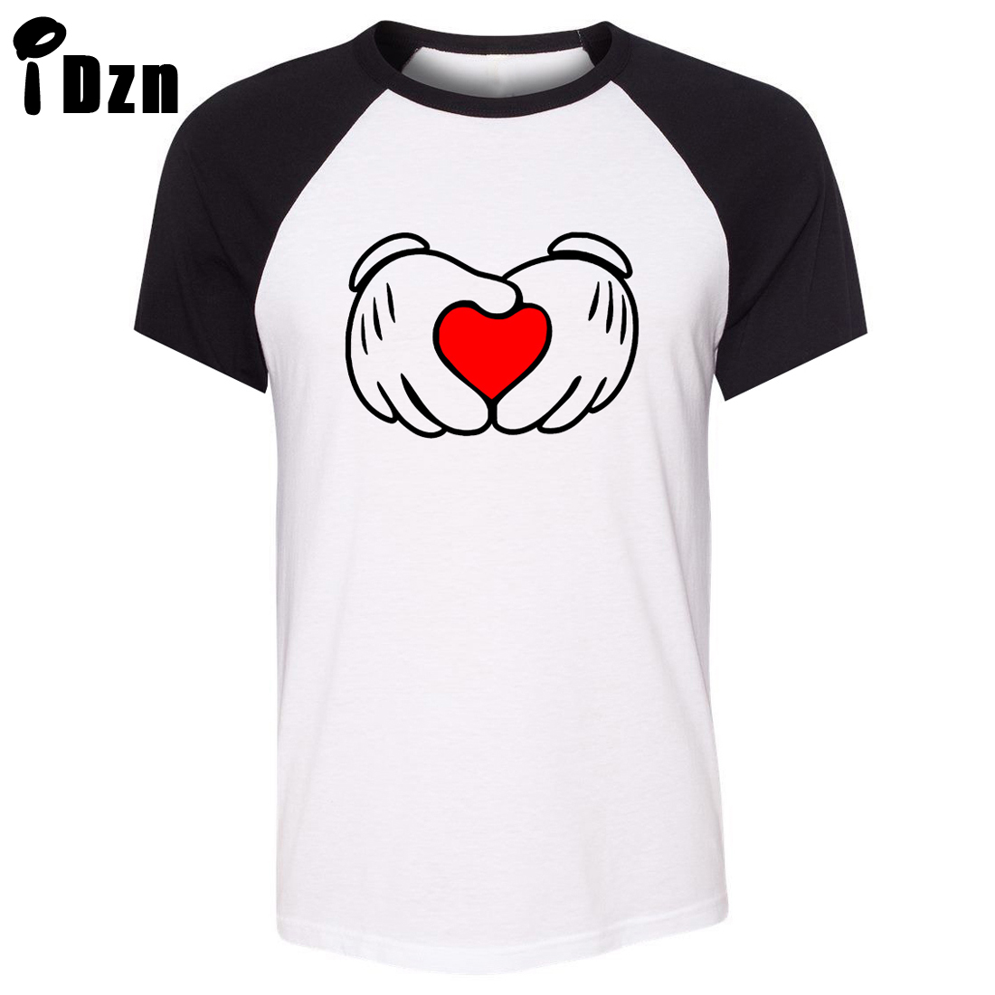 Heart design t shirt - Idzn Unisex Summer T Shirt Funny Red Love Heart Gesture Art Pattern Design Raglan Short