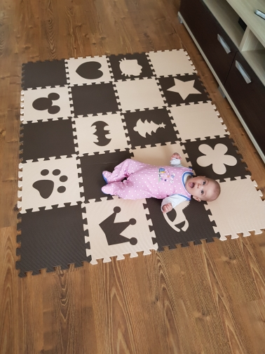HTB1s0UNpASWBuNjSszdq6zeSpXai EVA Marjinaa Free shipping Pluse Mat 10 pcs Beige coffee FOAM MATS Exercise GYM Puzzle Soft Tile Floor Kids Play Room