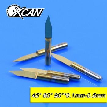 Titan 10Pcs 3 175mm Tungsten Steel V Shape Carbide PCB Engraving Bits CNC  Router Tool 45 60 90