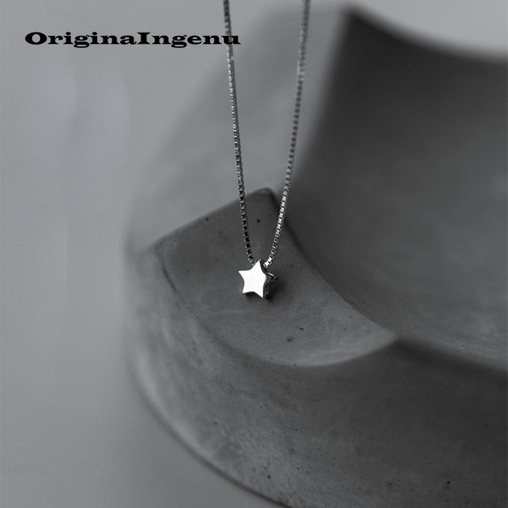 Necklace Choker 925 Silver One Piece Star necklace Kolye Charm Minimalism Snake Pendants Vintage Colar Collares Women Jewellery