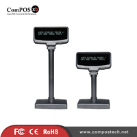 High Quality POS Peripheral VFD Height adjustable POS Customer Display USB Port 2x20 Characters VFD For Retail