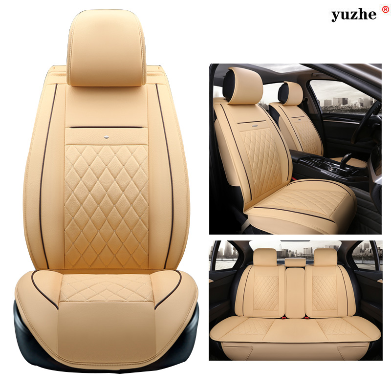 Yuzhe leather car seat cover For Mitsubishi Lancer Outlander Pajero Eclipse Zinger Verada asx I200 car accessories styling for mitsubishi asx lancer 10 9 outlander pajero sport colt carisma canbus l200 w5w t10 5630 smd car led clearance parking light