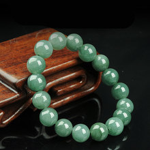 Natural A-grade oil green Emerald bead bracelet female 10MM lucky jade bead string bracelet jewelry gift