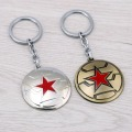 JM Captain America : The Winter Soldier Keychains The Avengers Shield Logo Alloy Key Chain Ring Holder Gift Chaveiro