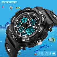SANDA Brand Fashion Children S Watch LED Digital Sports Watch Boy Girl Student Multi Function Waterproof