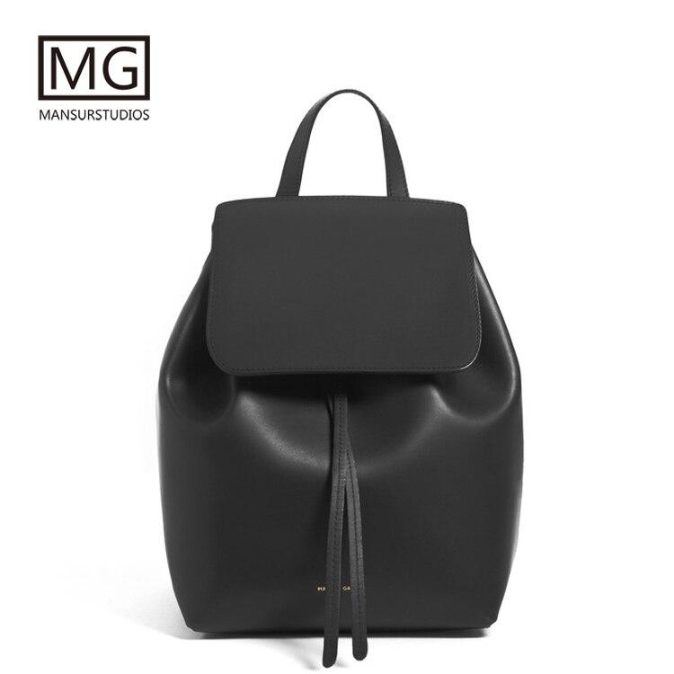 Mansurstudios Women Split Leather Backpacks,mansur Gavriel Lady Leather Fashion Backpacks ,girl Leather School Bag,free Shipping