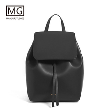 купить Mansurstudios Women Split leather Backpacks,mansur gavriel lady leather fashion Backpacks ,girl leather school bag,free shipping дешево