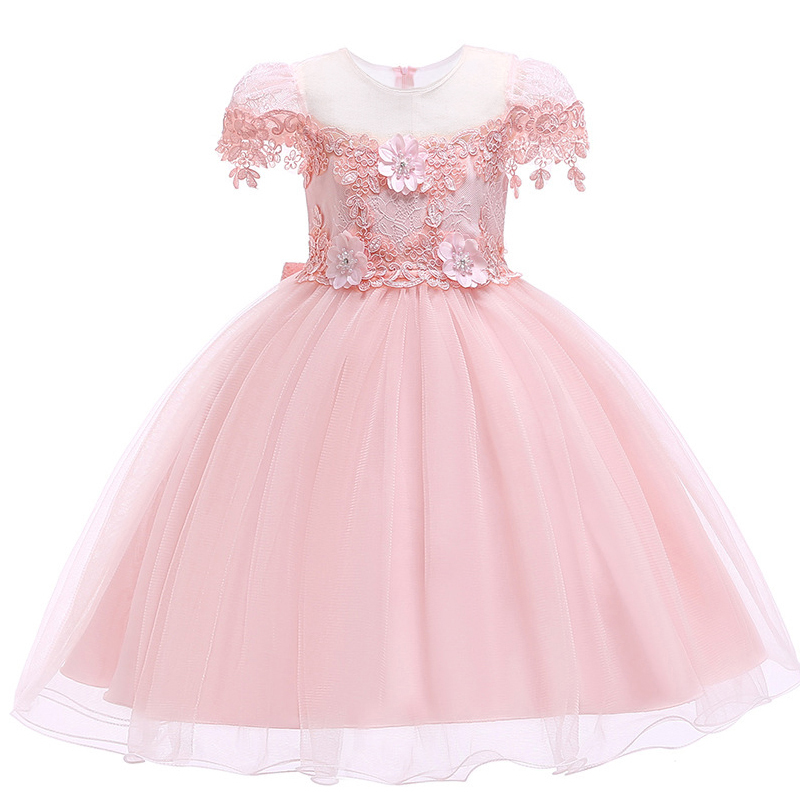 2019 Kids   Dresses   For   Girls   Tulle Lace Toddler Pageant pink   Flower     Girl     Dresses   for Weddings Party Communion   Dress   For   Girls   10Y