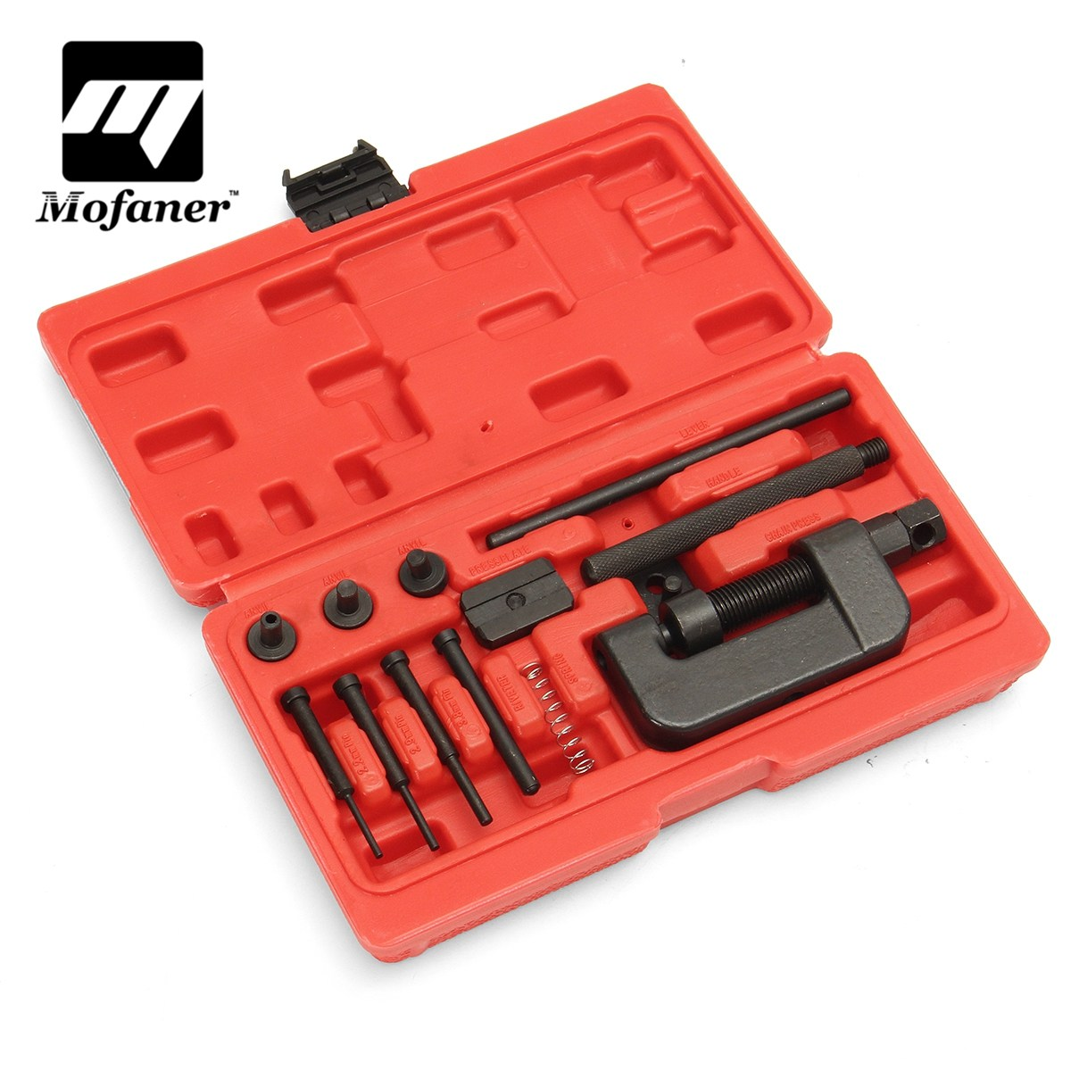 13 Pcs/Set Motorcycle Bike Chain Breaker Splitter Link Riveter Universal Set Riveting Tool