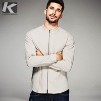 New Autumn Fashion Mens Casual Shirts Zipper Design Luxury Brand Clothing Man's Long Sleeve Slim Fit Male Wear Clothes