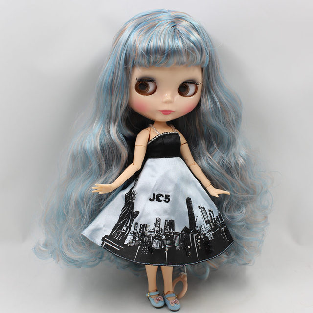 Factory Neo Blythe Doll Blue Blonde Hair Jointed Body 30cm