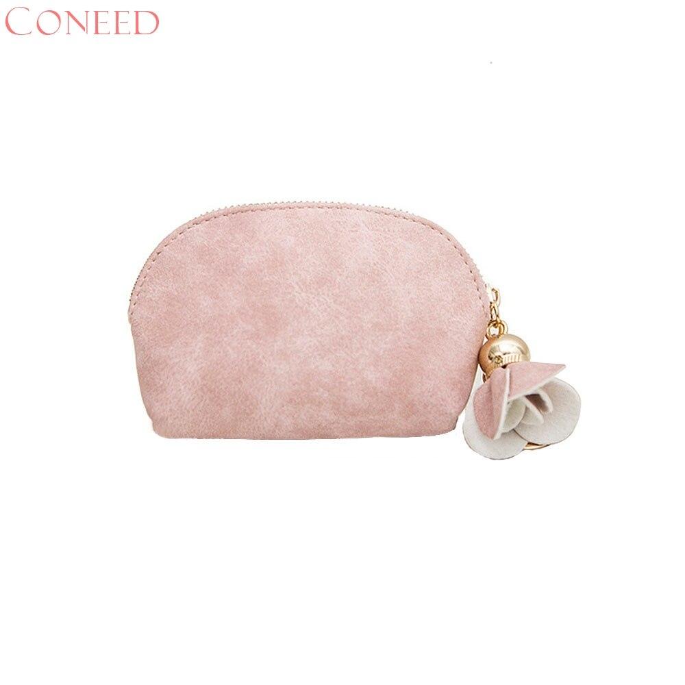 CONEED Kvinnor Läder Liten Mini Plånbok Hållare Zip Mynt Väska - Plånböcker - Foto 4