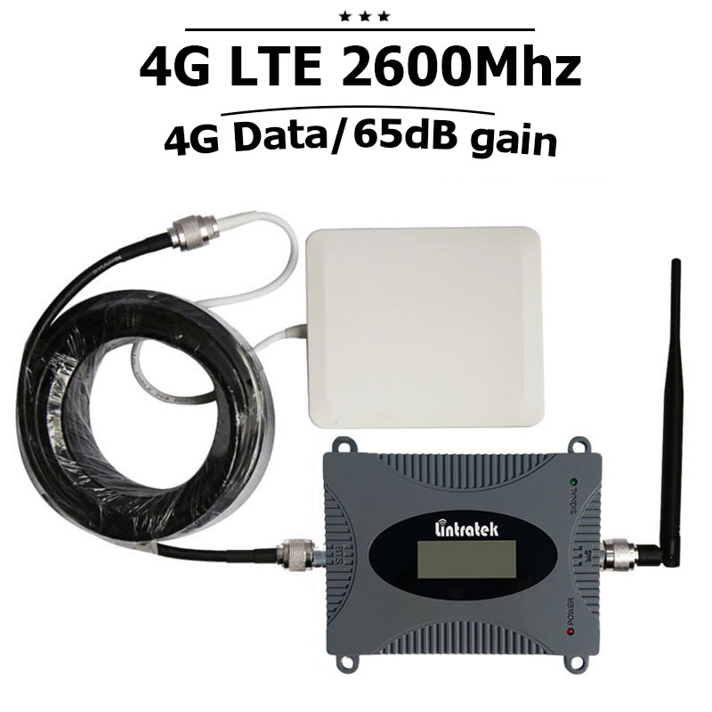 LCD Display 4g Signal Booster 4G LTE 2600 Band 7 Cellphone Repeater 70dB Cellular Signal Amplifier