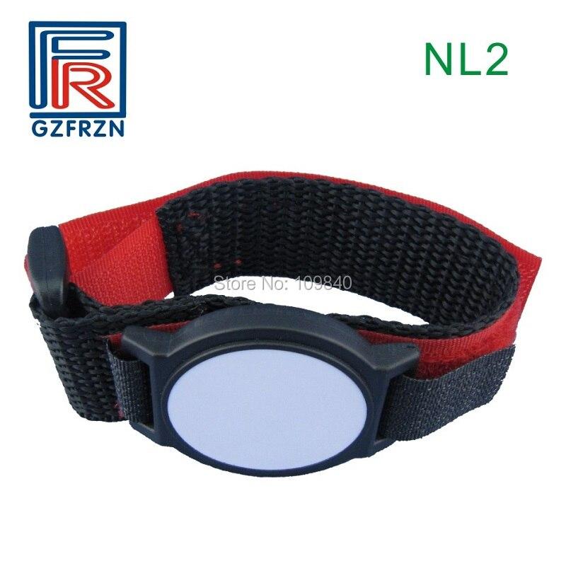 500pcs 860-960MHz RFID Nylon and Plastic wristband ISO18000-6C 512bit proximity bracelet Coloful survival nylon bracelet brown