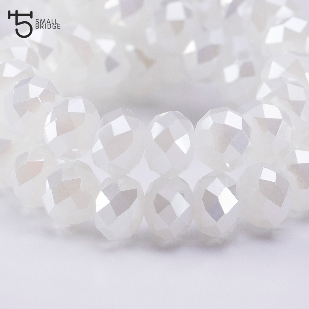 Купить с кэшбэком 4 6 8mm Czech Loose Rondelle Crystal Beads For Jewelry Making Diy Needlework AB Color Spacer Faceted Glass Beads Wholesale Z336