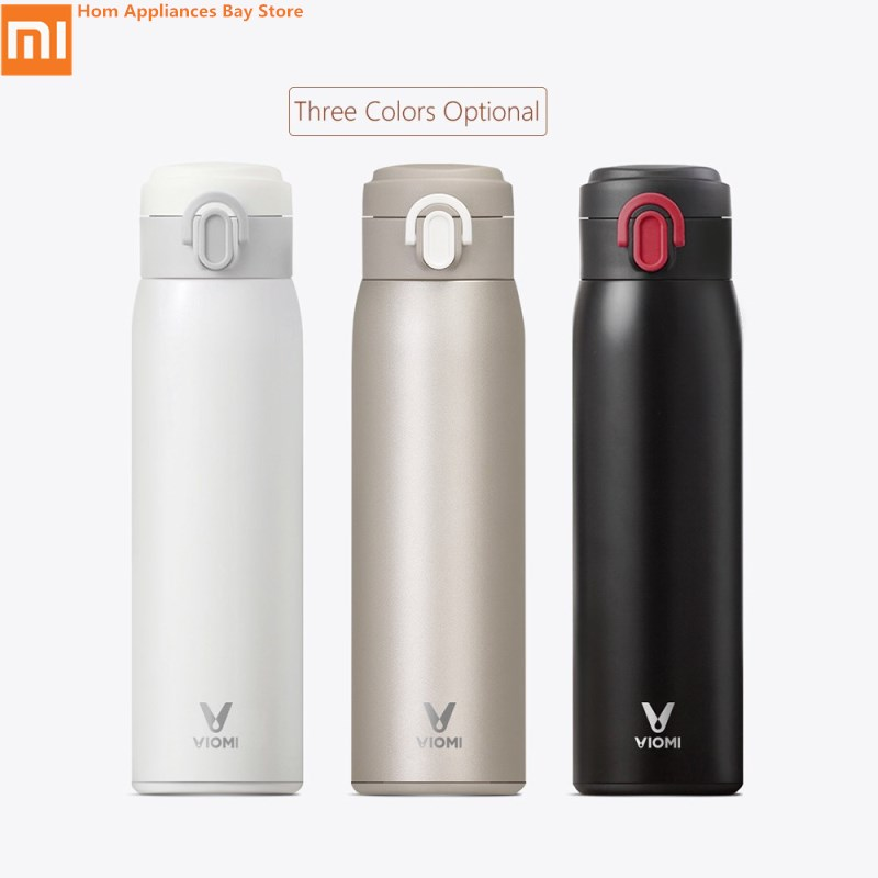 Original Xiaomi Mijia VIOMI Thermos Cups Stainless Steel Vacuum 24 Hours Flask Water Smart Bottle Thermos Single Hand 1 5l big capacity xiaomi viomi stainless steel bottle thermos water vacuum bottle cup flask pot 24h keep warm for home office