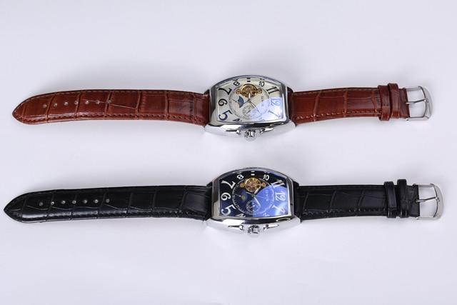 SEWOR Top Luxury Brand Rectangular Tourbillon Men Watches Automatic Mechanical watch Fashion Vintage Clock relogio masculino