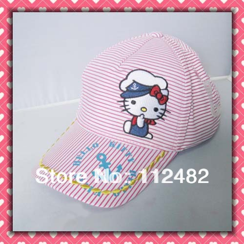 Free shipping Hello kitty Children baseball cap sun hat Children's Hats
