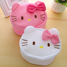 Kawaii Kitty Cat Meias Bra Lavanderia Máquina de Lavar Roupa Interior Bra Aid Lavandaria Saver. Wash Proteger Mesh Bag Roupa Ajuda Saver(China)