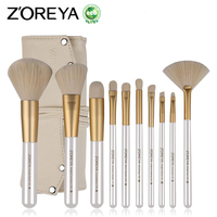 ZOREYA Makeup Brushes 10pcs Classic Soft Synthetic Professional Cosmetic Makeup Foundation Powder Blush Eyeliner Brush Pinceau