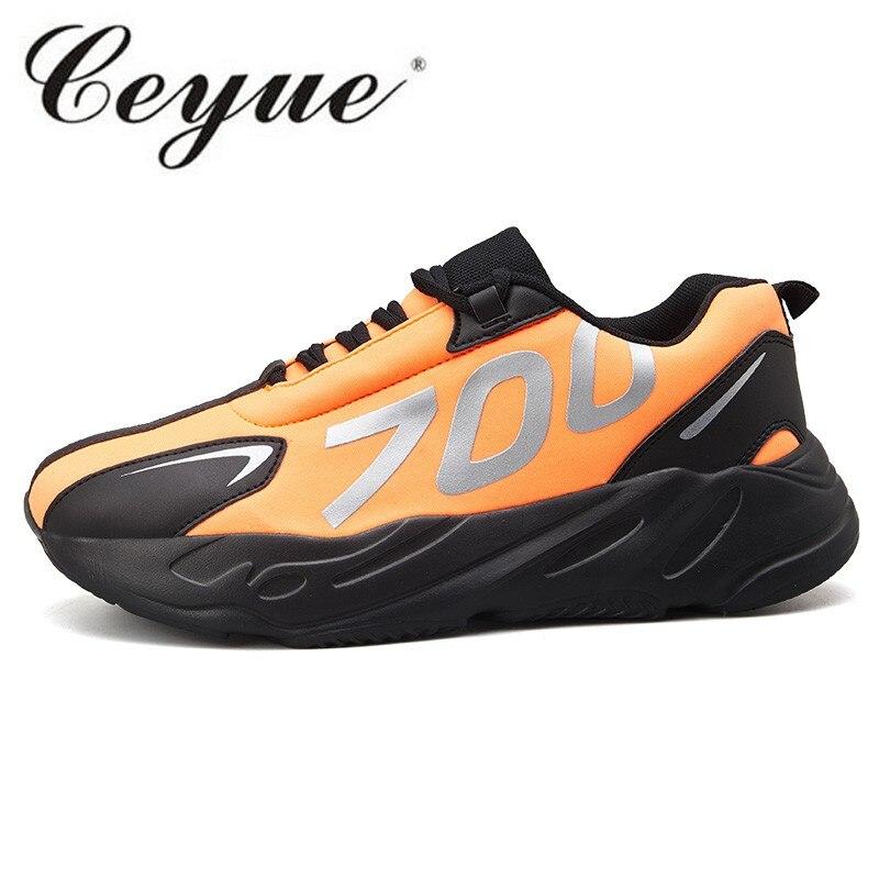 Casuales Black Moda Deportiva green Al 2019 Cómodo Zapatos orange white Aire Libre 39 De Tamaño Hombres Zapatillas Lisome Hombre Correr Los Deporte 44 fHYfWO
