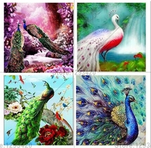 Diamond embroidery 5d diy full diamond painting Peacock cross stitch mosaic square rhinestones   needlework home decor fullcang diy 5pcs full square diamond embroidery wolf and scenery diamond painting cross stitch 5d mosaic needlework kits d952