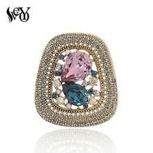 Высококачественные круглые роскошные украшения veyo со стразами