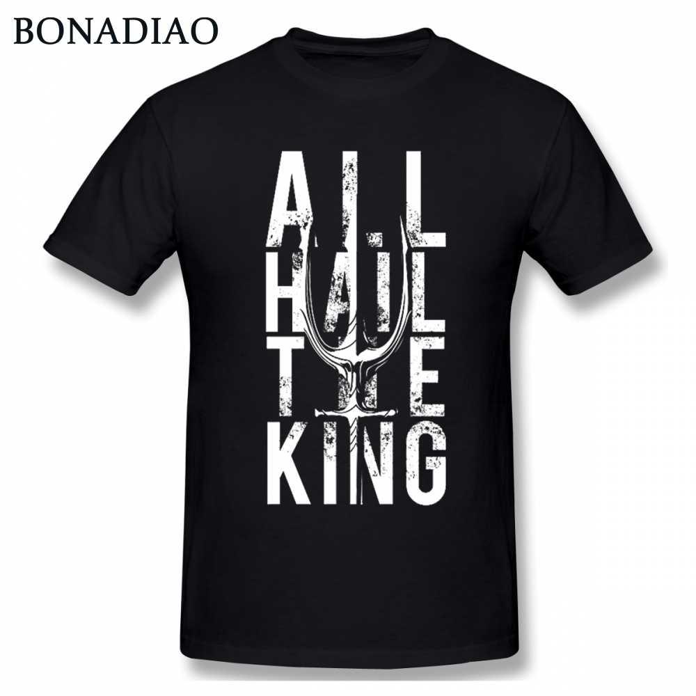 Incrível Aquaman King Of Atlantis Arthur Curry Orin Camiseta Tridente de Poseidon Exclusivo Design Camiseta Para A DC Comics fãs