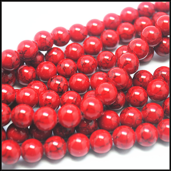 wholesale red stone charmings jewelry components or fitings round ball size 4mm 6mm 8mm 10mm 12mm
