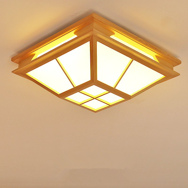 Modern Interior Japanese Ceiling Lights Washitsu Ceiling Decoration Lamp Wood and Paper Hallway Indoor Japanese Lamp Lighting japanese style tatami floor lamp aisle lights entrance corridor lights wood ceiling fixtures tatami wood ceiling aisle promotion