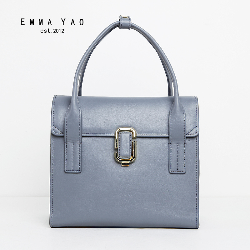 EMMA YAO genuine leather women bag  designer women messenger bags famous brand crossbody bag emma yao leather women bag fashion korean tote bag new designer women messenger bags