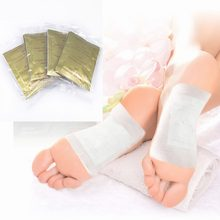 10 PCS แผ่น Gold Premium Kinoki Detox Organic Herbal Cleansing Patches Detoxification Foot Pads Freeshiping และ Dropship(China)