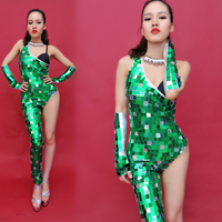 NewPole dance Jazz Dance Costumes For Lady Sexy Jumpsuit Women Gogo Dance Bar Dj Dancers Stage Fashion Singer Costumes BD109