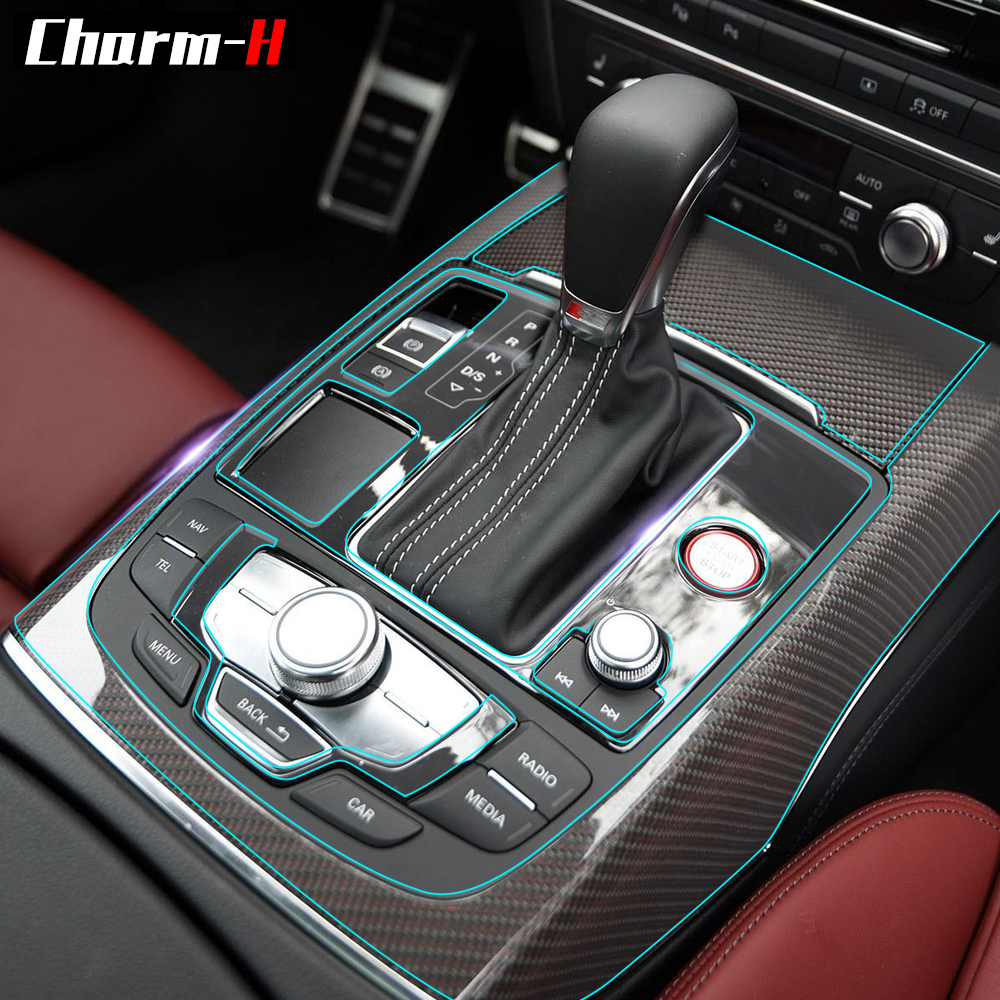 For Audi C7 S6 2012-2016 Car Styling Invisible Transparent Center Console Dashboard Gear Shift Panel Protective Film AccessoriesFor Audi C7 S6 2012-2016 Car Styling Invisible Transparent Center Console Dashboard Gear Shift Panel Protective Film Accessories