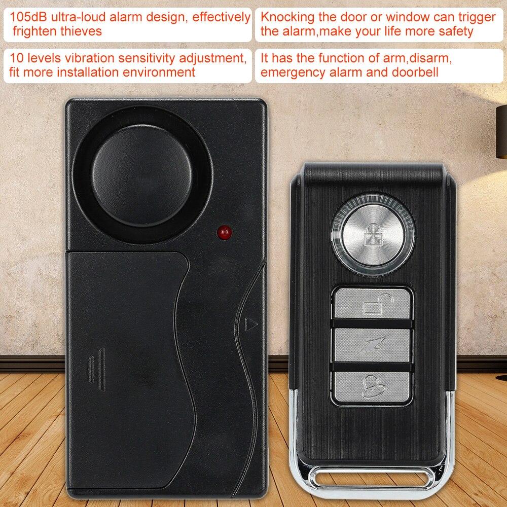 Drahtlose Fernbedienung Tür Vibration Sensor Alarm Haus Sicherheit Tür  Fenster Auto Sensor Detektor Mit 4 Funktionen In Drahtlose Fernbedienung  Tür ...