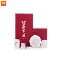 New Gift box Original Xiaomi Smart Home Kit Gateway Door Window Sensor Human Body Sensor Wireless Switch Zigbee Socket Sets