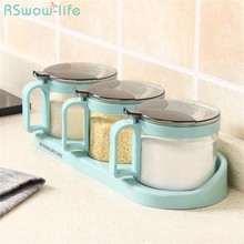 Combination Home Spice Box Creative Seasoning Kitchen Glass Jar Set For Tools