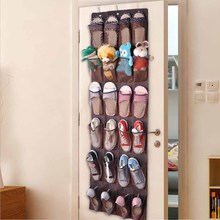24 Pockets Shoes Hanging Bag Shoes Storage Holder with Hooks Space Saver Practical Home Organizer MYDING