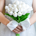 2017 Новый Дизайн Моделирование Тюльпан Свадебные Букеты Белый букет де mariage Свадебные Аксессуары В Наличии На Складе Быстрая Доставка
